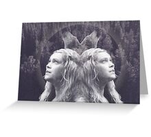 Clarke from The100+ Wolves+ forest Greeting Card