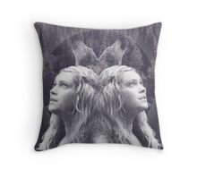 Clarke from The100+ Wolves+ forest Throw Pillow
