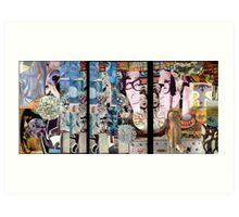 Buddy Holly Tryptich. Art Print