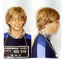 Bill Gates Mugshot Poster