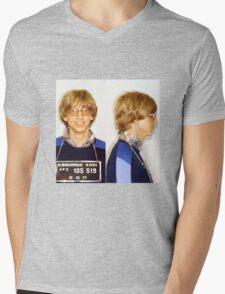 Bill Gates Mugshot Mens V-Neck T-Shirt