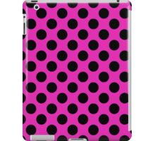 Retro Pink and Black Polka Dot Pattern iPad Case/Skin