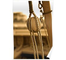 Sail Pulley Poster
