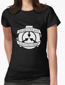 Die in the dark: Black and White Womens Fitted T-Shirt