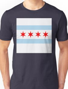 Patriotic Chicago Flag Unisex T-Shirt