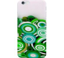 Green cirles iPhone Case/Skin
