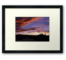 Nature's Pre-Sunrise Paint Brush At Work Framed Print