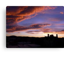 Nature's Pre-Sunrise Paint Brush At Work Canvas Print