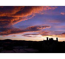 Nature's Pre-Sunrise Paint Brush At Work Photographic Print