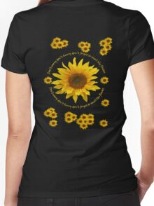 Be like the Sunflower - Don't Worry T Shirt Women's Fitted V-Neck T-Shirt