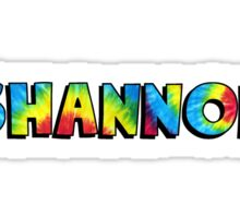 Name Tie Dye- Shannon Sticker