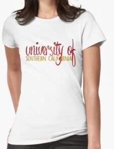 USC 2-Tone Womens Fitted T-Shirt