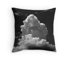 Cloud - black and white Throw Pillow