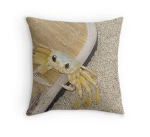 Sand crab, St Lucia Throw Pillow