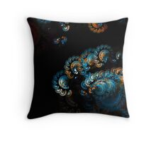 beautiful blue in space one Throw Pillow