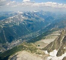 Chamonix valley by Béla Török
