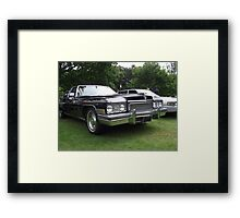 Black Cadillac 1972 Car Framed Print