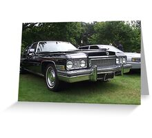 Black Cadillac 1972 Car Greeting Card