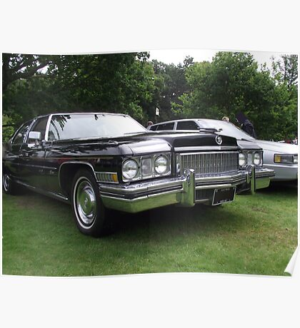 Black Cadillac 1972 Car Poster