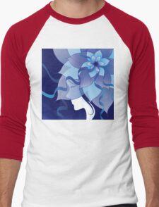The Lady in Blue Men's Baseball ¾ T-Shirt