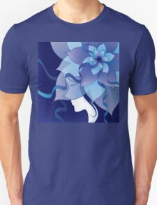 The Lady in Blue Unisex T-Shirt