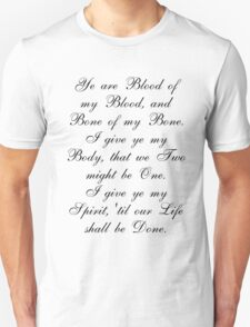 Outlander Wedding Vows T-Shirt