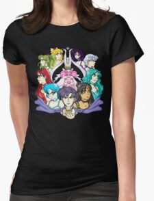 Sailor Princessess - Manga Version Womens Fitted T-Shirt