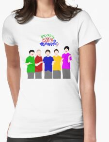 Gaki Laughter with Logo Womens Fitted T-Shirt