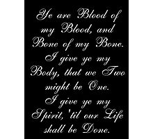 Outlander Wedding Vows Photographic Print