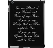 Outlander Wedding Vows iPad Case/Skin