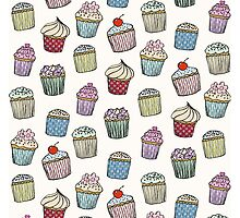 Cupcake Ceilidh (large) by Catie Atkinson