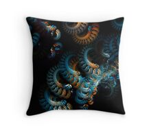 beautiful blue in space two Throw Pillow
