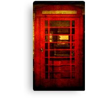 Telephone Box - unhinged Canvas Print