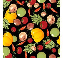 Seamless vegetables Photographic Print