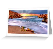 Sunset over Seaside Robe Greeting Card
