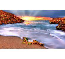 Sunset over Seaside Robe Photographic Print