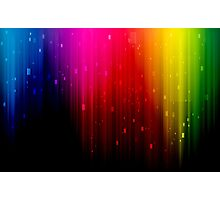 colors rainbow Photographic Print