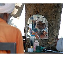 Hair saloon under a tree Photographic Print