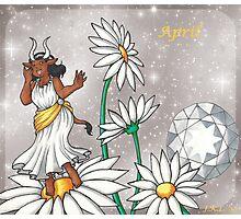 April Zodiac Photographic Print
