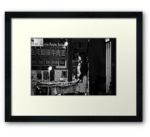 Waiting For Customers Framed Print