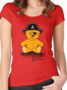 Arrrr! is the first rule of Pirate Club Women's Fitted Scoop T-Shirt
