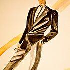 Watercolor tuxedo by JZdezigns