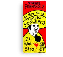 Vicente Fernandez Mexico Pop Folk Art Canvas Print