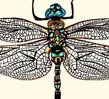 Dragonfly Drawing by Kellysmifff