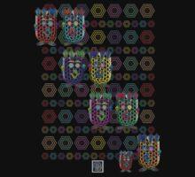 """""""NanoFam with Hexagons""""© Baby Tee"""