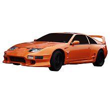 Orange Sports Car Photographic Print