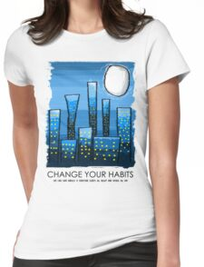 Save Energy Womens Fitted T-Shirt
