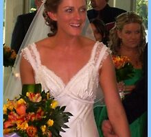 """""""This photo of the bride looked exciting"""" by Norma-jean Morrison"""
