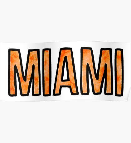 Miami Tie Dye Poster