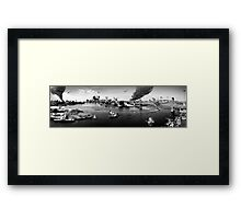 NYC disaster  Framed Print